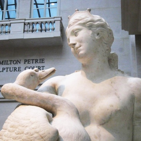 Download free 3D printer designs Leda and the Swan, metmuseum
