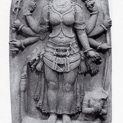 Free STL file The Goddess Durga Victorious over the Buffalo Demon, Mahisha (Mahishasuramardini), metmuseum