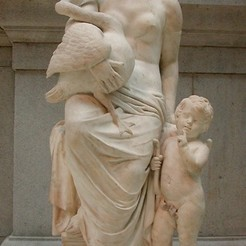 Free 3D printer model Leda and the Swan (Putti), metmuseum
