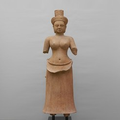Free 3D printer files Standing Female Diety (Head), metmuseum