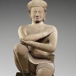 Free 3D printer designs Kneeling Male Attendant, metmuseum