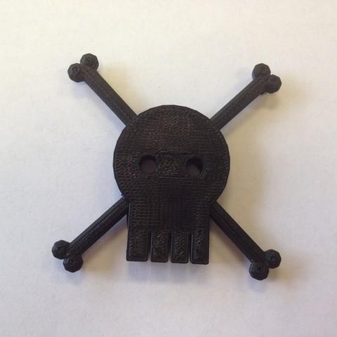 Télécharger fichier impression 3D gratuit Crâne et os croisés, IsabellaMarques56