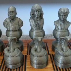 Black.jpg Download STL file Harry Potter Chess Set 2 • 3D printer object, Anubis_