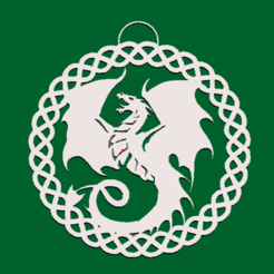 Download free 3D printing models Celtic Dragon Earring and Pendant, Anubis_