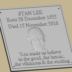 Download free 3D print files Stan Lee Memorial Plaque, Anubis_