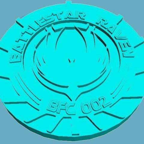 Free 3D printer designs Battlestar Raven Medallion, Anubis_