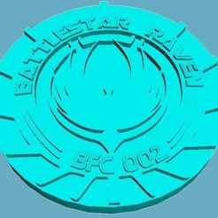 Download free STL Battlestar Raven Medallion, Anubis_