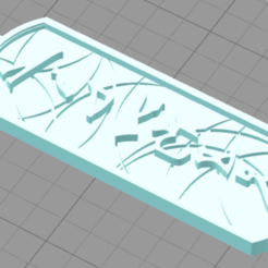 Download free 3D printing templates Cartouche Tag, Anubis_