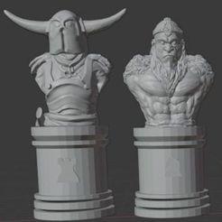Descargar modelos 3D gratis Juego de ajedrez Thundercats Dark Side, Anubis_