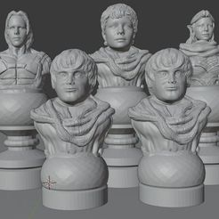 LOTR_Set.jpg Download STL file Lord Of The Rings Chess Set • 3D printable design, Anubis_