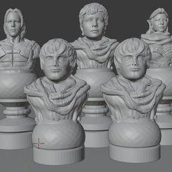 LOTR_Set.jpg Télécharger fichier STL Jeu d'échecs Le Seigneur des Anneaux • Modèle pour impression 3D, Anubis_