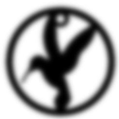 Free 3D print files Bird Earring and Pendant, Anubis_