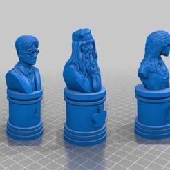 Descargar STL gratis Juego de ajedrez de Harry Potter, Anubis_