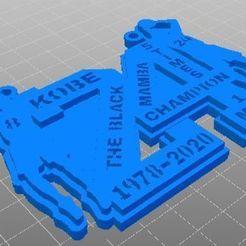 KobeB_Trib.jpg Download free STL file Kobe Bryant Tribute • 3D printable design, Anubis_