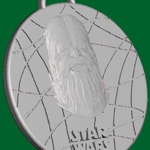 Download free 3D printing models Star Wars Medallion - Chewbacca, Anubis_