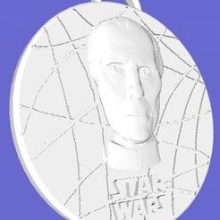Download free 3D model Star Wars Medallion - Moff Tarkin, Anubis_