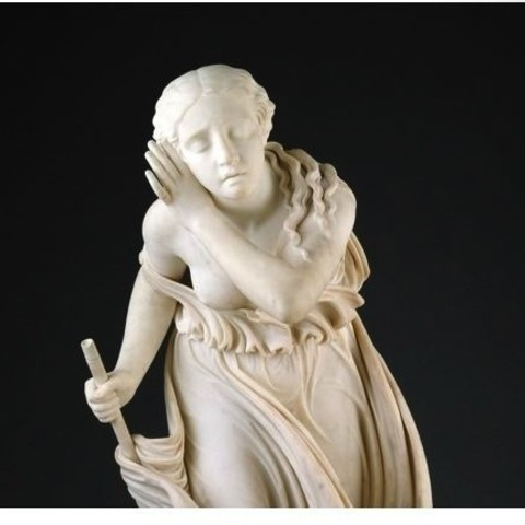 Download free 3D printer model Nydia, The Blind Flower Girl of Pompeii, modeled 1855–56, carved 1858, ArtInstituteChicago