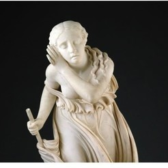 Free 3D print files Nydia, The Blind Flower Girl of Pompeii, modeled 1855–56, carved 1858, ArtInstituteChicago