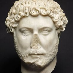 Free 3D print files Portrait of Emperor Hadrian, 2nd century A.D., ArtInstituteChicago