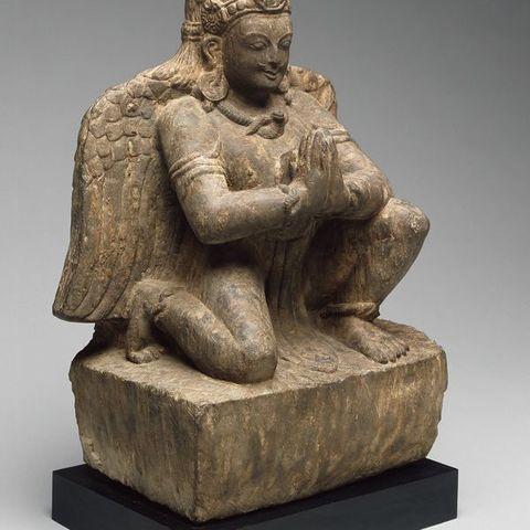 Modelos 3D para imprimir gratis Monte de Dios Vishnu, Garuda, Arrodillado con las manos en gesto de adoración (Anjalimudra), siglo XIV, ArtInstituteChicago