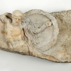 Download free STL file Relief of a Falling Warrior, 2nd century A.D., ArtInstituteChicago