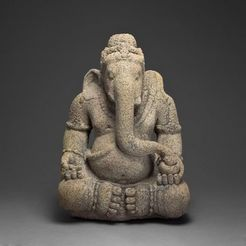 Download free STL file God Ganesha, Remover of Obstacles, 9th/10th century • 3D printable template, ArtInstituteChicago