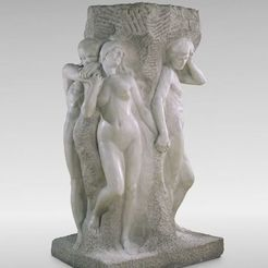 Free 3D print files The Solitude of the Soul, modeled in plaster 1901; sculpted in marble 1914, ArtInstituteChicago