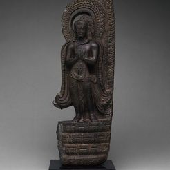 Free 3D model God Vishnu's Mount, Garuda, Standing with Hands in Gesture of Adoration (Anjalimudra), 11th century or earlier, ArtInstituteChicago