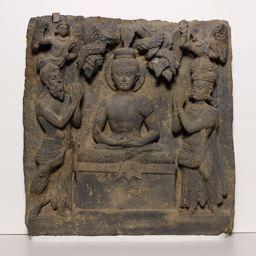 158786_1149155_display_large.jpg Télécharger fichier STL gratuit Relief avec Bouddha vénéré par Indra et Brahma • Objet pour impression 3D, ArtInstituteChicago