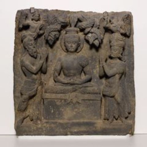 Download free 3D printer templates Relief with Buddha Worshipped by Indra and Brahma, ArtInstituteChicago