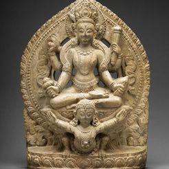 Download free STL file God Vishnu Riding on His Mount, Garuda, 16th/17th century • 3D print model, ArtInstituteChicago