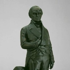 Download free 3D print files Daniel Webster, modeled and cast 1853, ArtInstituteChicago