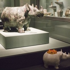 Free 3D printer model Rhino vessel, AsianArtMuseum