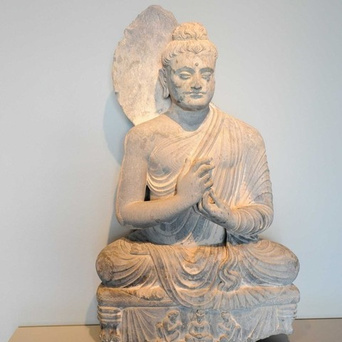 Download free 3D printing templates Seated Buddha, AsianArtMuseum