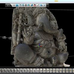 123D_Catch_SeatedGanesh_display_large.jpg Télécharger fichier STL gratuit Assis Ganesha • Plan imprimable en 3D, AsianArtMuseum