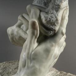 Free STL file Hand of God at The Musée Rodin, Paris, ArtNerd3D