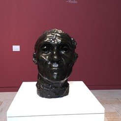 Imprimir en 3D gratis Jefe Monumental de Jean d'Aire, Rodin, Museo de Arte de Portland, ArtNerd3D