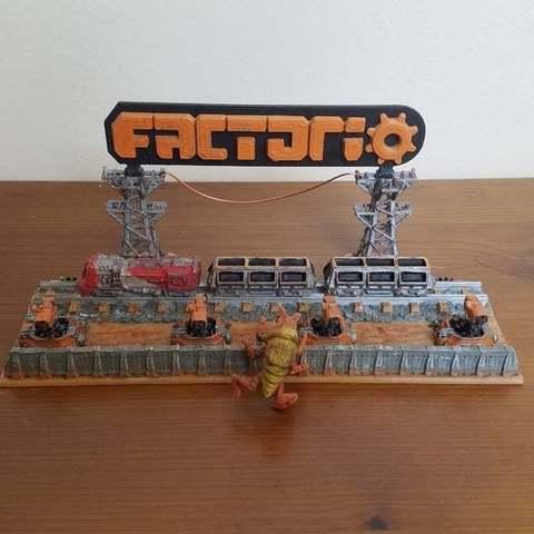 Télécharger plan imprimante 3D gatuit Factorio Diorama, Petethelich
