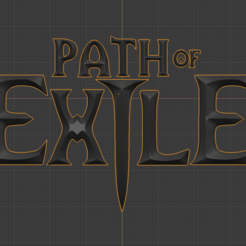 Download free 3D print files Path of Exile letters, Petethelich