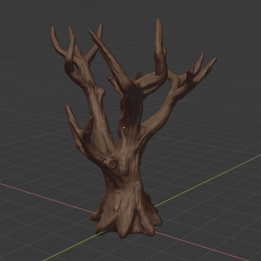 blender_2019-08-31_17-25-39.png Download free STL file Dead tree • 3D print template, Petethelich