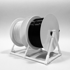 filament-spool-holder_cults3d_01.jpg Download free STL file FILAMENT SPOOL HOLDER • Object to 3D print, PRACOWNIA71