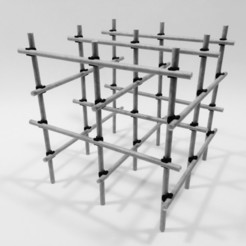 structure_scaffolding_04.JPG Download free STL file BAMBOO SCAFFOLDING • Model to 3D print, PRACOWNIA71