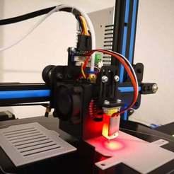 printing.jpg Télécharger fichier SCAD gratuit Geeetech A10 Plaque de montage de la carte d'extension avec connecteur BLTouch pour GT2560v3 • Modèle imprimable en 3D, rbm78bln