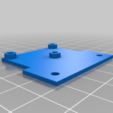 Download free 3D printing templates Geeetech A10 Extension Board Mounting Plate with BLTouch Connector for GT2560v3, rbm78bln