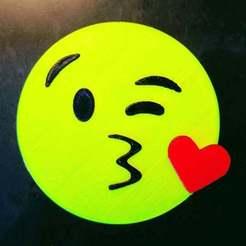 Télécharger STL gratuit Blow Kiss Emoji (extrudeuse simple, multi-matériaux), rbm78bln
