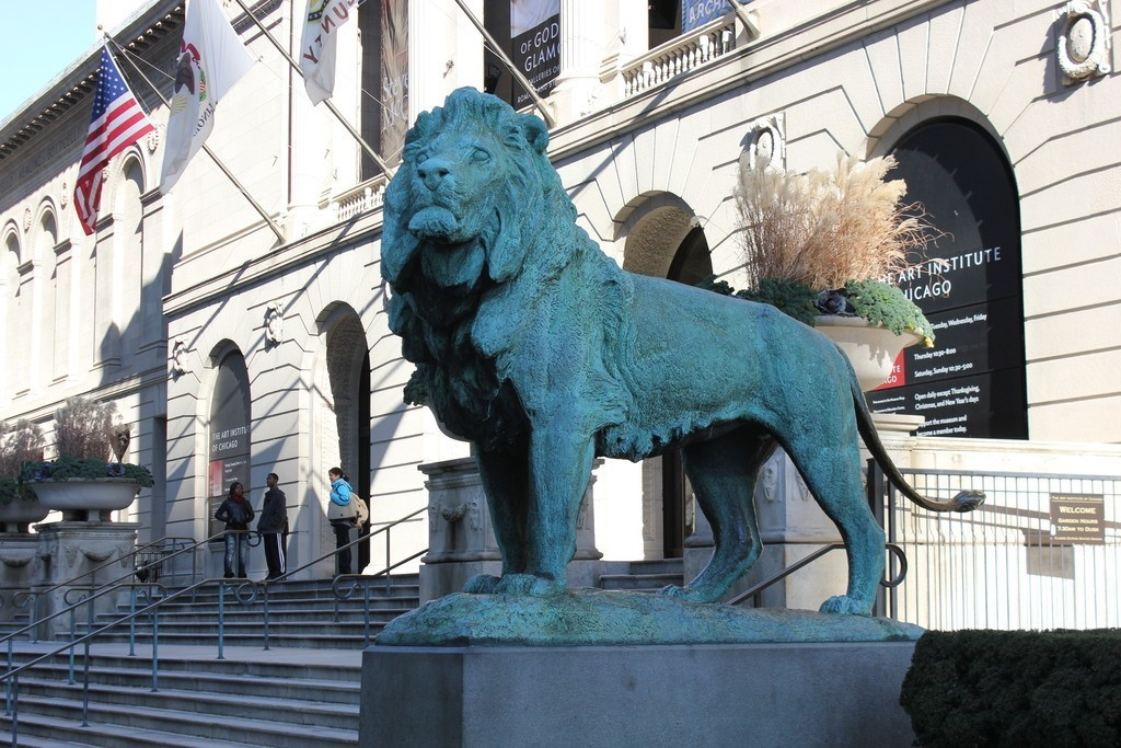 IMG_7490_display_large.jpg Download free STL file Iconic Lion at the Steps of the Art Institute of Chicago (south) • 3D printable template, allanrobertsarty