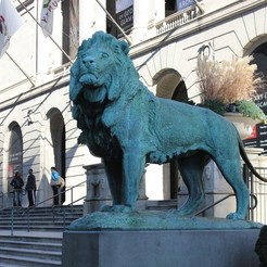 Free STL Iconic Lion at the Steps of the Art Institute of Chicago (south), allanrobertsarty