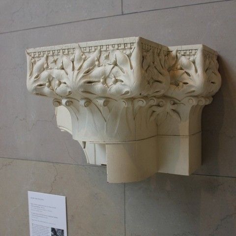 Free 3D printer model Adler and Sullivan, Column Capital and Portion of a Frieze, allanrobertsarty