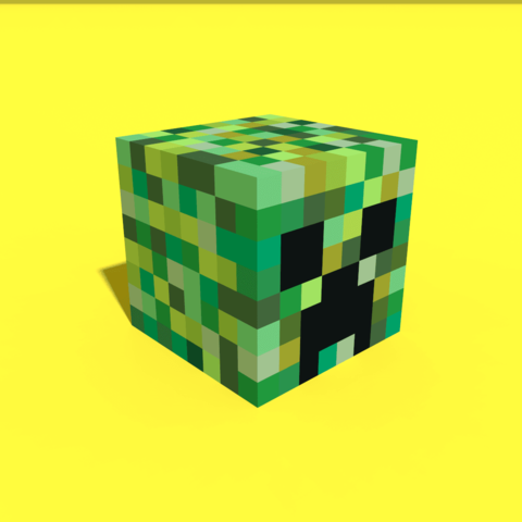 Download 3D print files Pixel Creeper Head ・ Cults