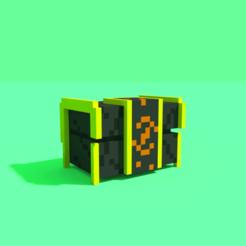 Impresiones 3D Pixel Fantasy Chest, Ebon